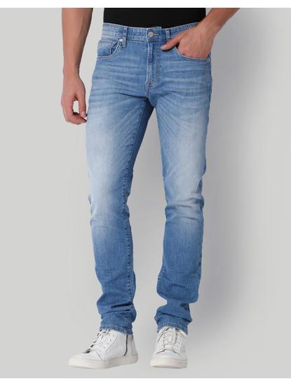 Light Blue Low Rise Slim Fit Jeans
