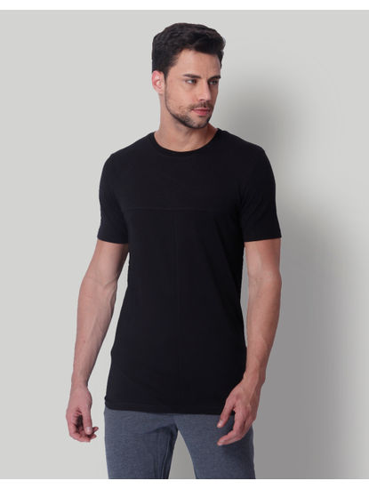 Black Graphic Print Crew Neck T-Shirt
