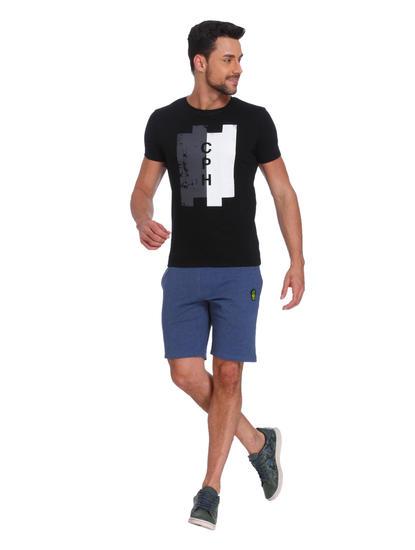 Black & White Print Crew Neck T-Shirt