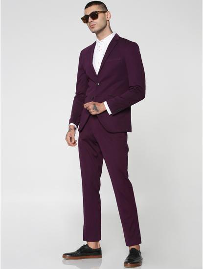 Purple Slim Fit Trousers
