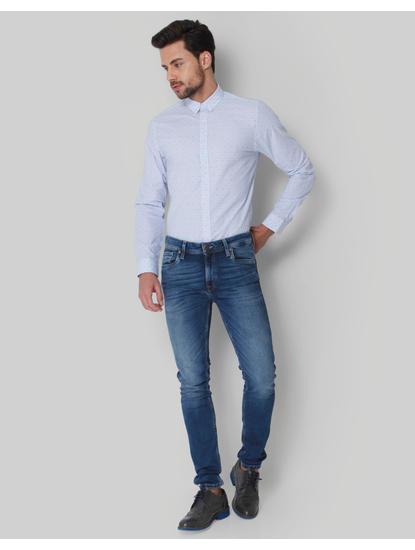 Blue Polka Dot Shirt