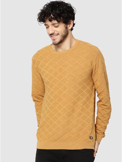 Mustard Jacquard Pullover