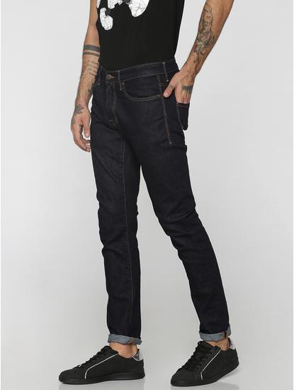 Dark Blue Glenn Low Rise Slim Fit Jeans