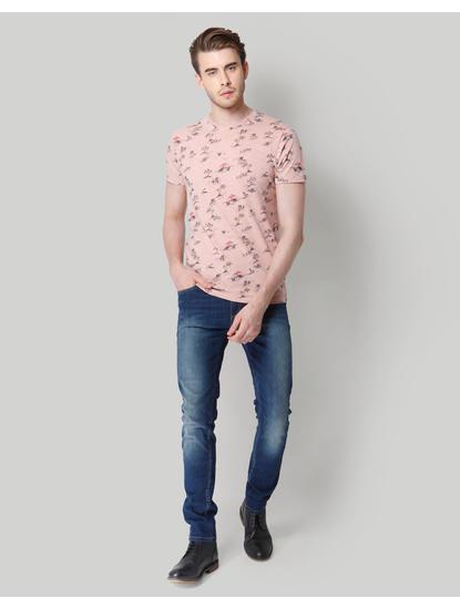 Rose Graphic Print Crew Neck T-Shirt
