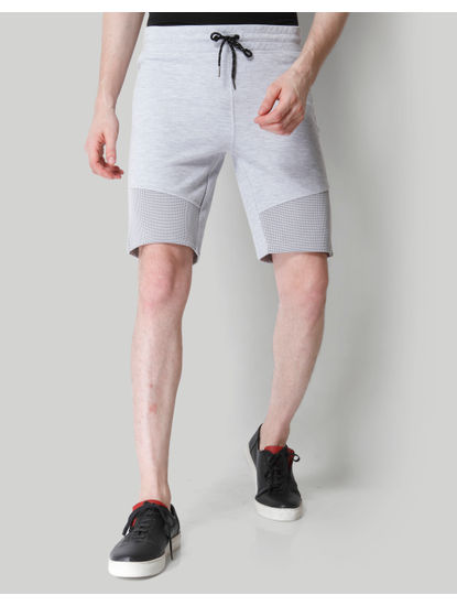 Grey Mesh Detail Sweatshorts