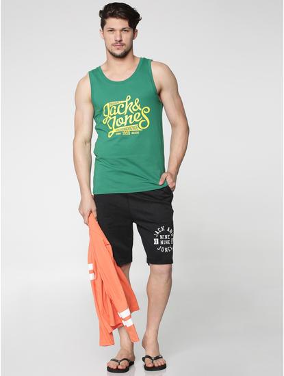 Green Text Print Vest