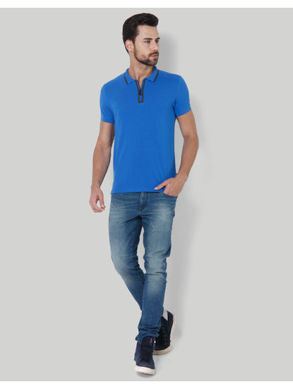 Electric Blue Polo T-Shirt