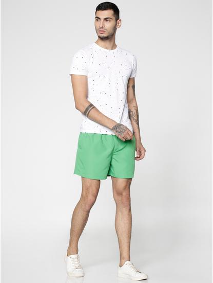 Green Drawstring Swim Shorts
