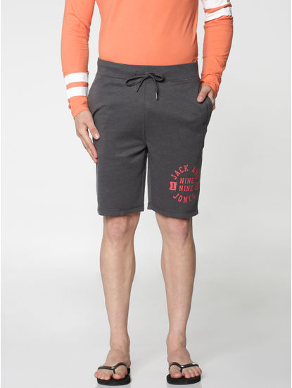 Grey Drawtsring Shorts