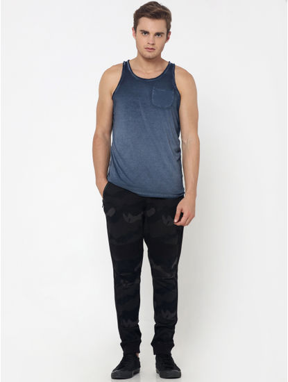 Grey One Pocket Tank Top
