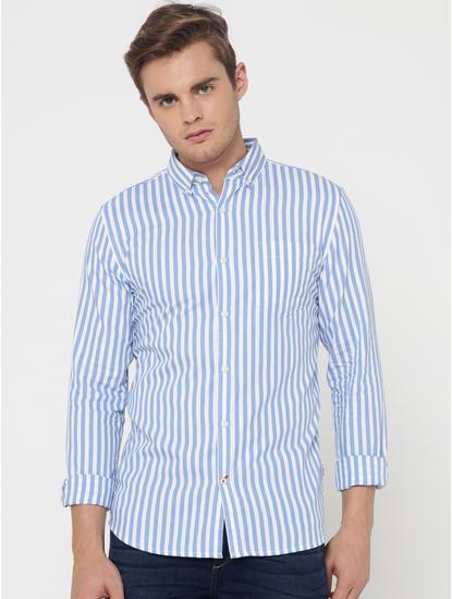 Blue Striped Slim Fit Shirt
