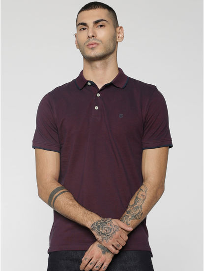 Burgundy Polo T-Shirt
