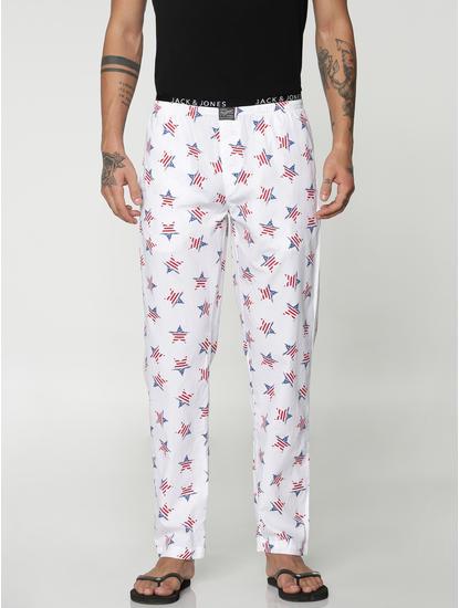 White All Over Star Print Pyjama