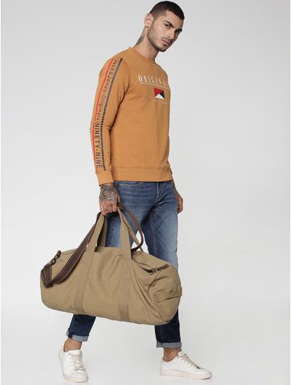 Brown Graphic & Text Print Sweatshirt
