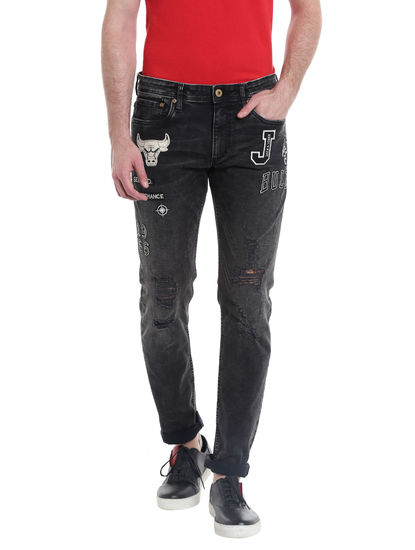 Chicago Bulls Black Slim Fit Jeans NBA