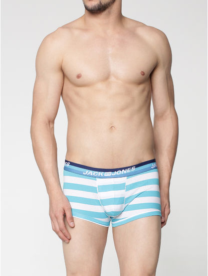 Blue Stripes Brazilian Trunks