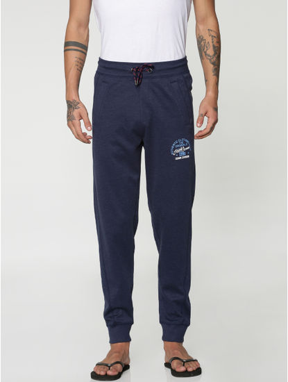 Navy Blue Drawstring Trackpants
