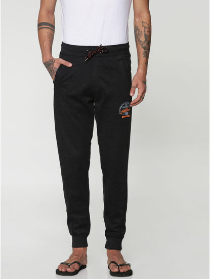 Black Drawstring Trackpants