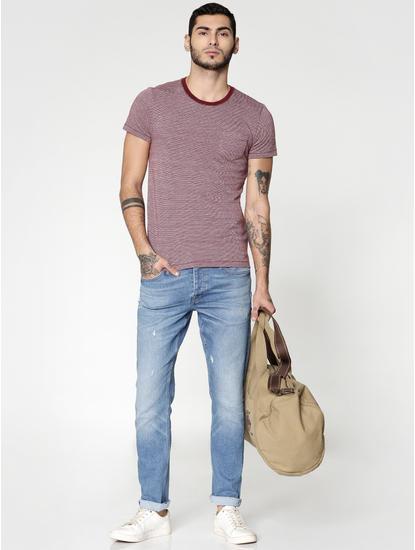 Blue Washed Glenn Slim Fit Jeans