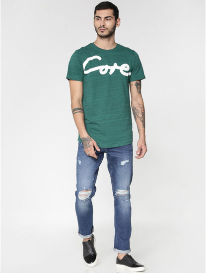 Blue Ripped Distressed Glenn Slim Fit Jeans