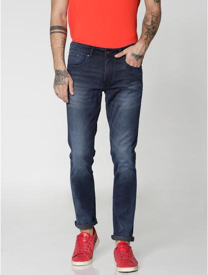 Blue Light Washed Glenn Slim Fit Jeans