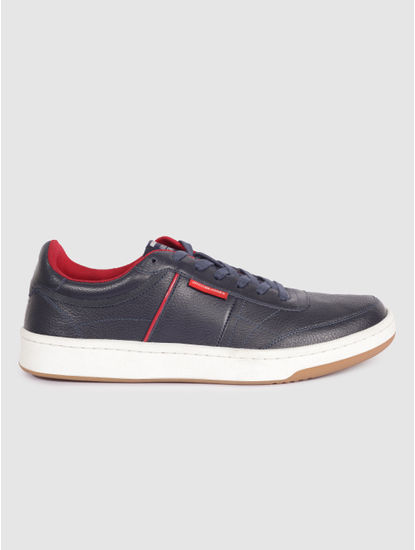 Navy Blue Contrast Lining Sneakers