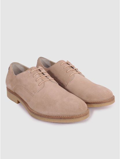 Brown Suede Formal Shoes