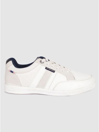 White Suede Detail Sneakers