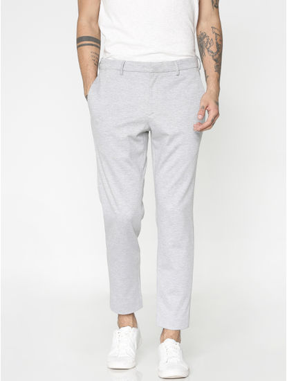 Light Grey Slim Fit Trousers