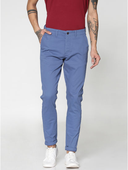 Blue Slim Fit Pants