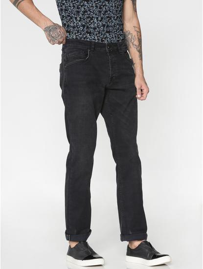 Black Washed Ben Skinny Fit Jeans
