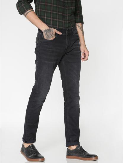 Black Washed Clark Regular Fit Jeans