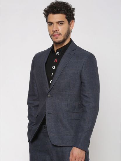 Blue Double Button Blazer