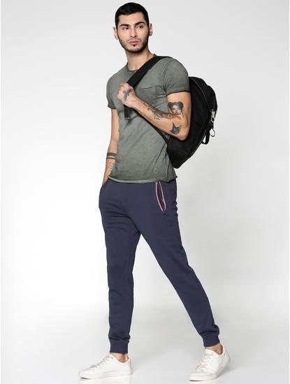 Blue Drawstring Regular Fit Sweatpants