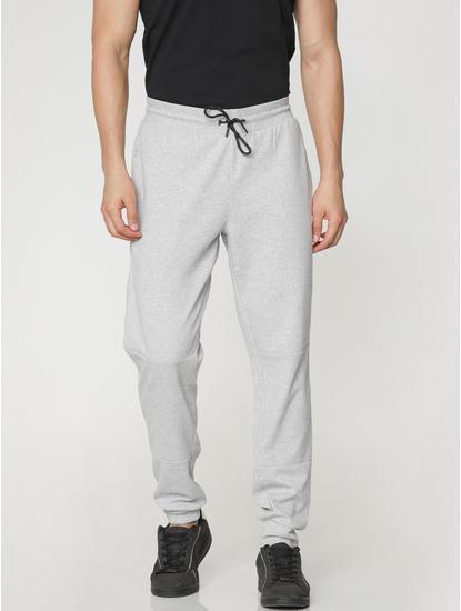 Grey Drawstring Regular Fit Sweatpants