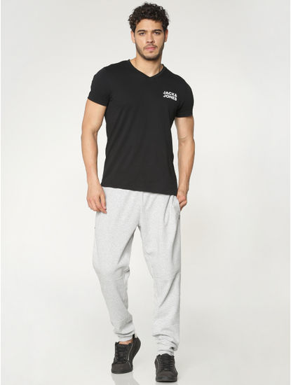 Grey Drawstring Regular Fit Sweatpants