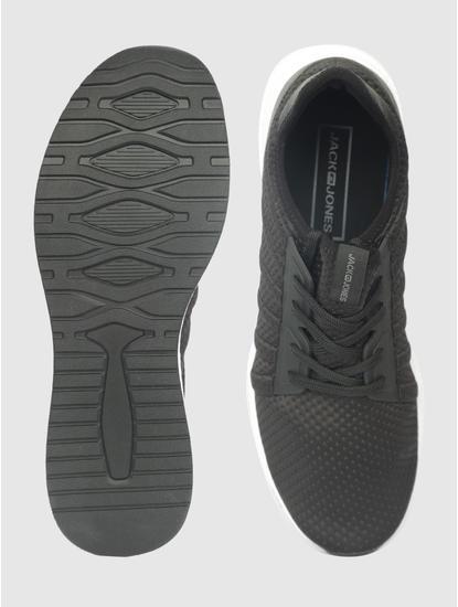 Black Mesh Detail Sneakers