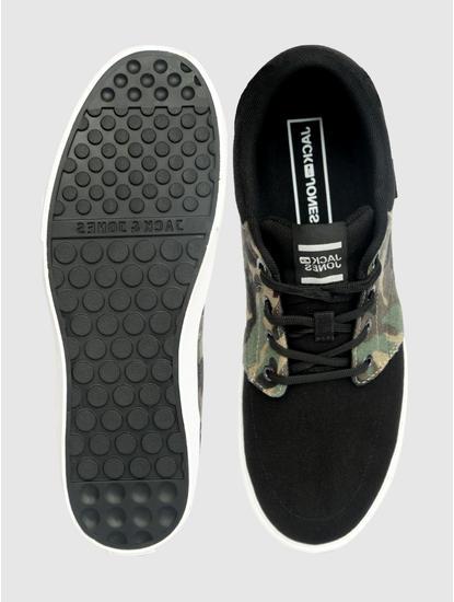 Black Camo Detail Sneakers