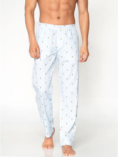 White All Over Pineapple Print Pyjama