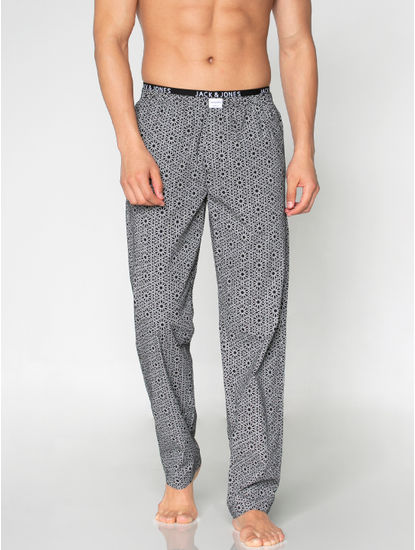 Black Abstract Print Pyjama