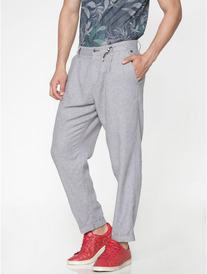 Grey Regular Fit Pants