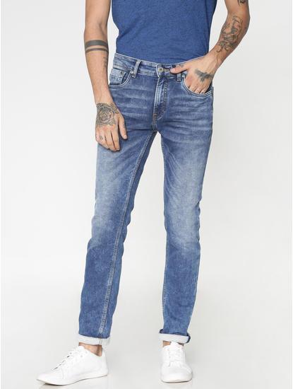 Blue Washed Ben Skinny Fit Jeans