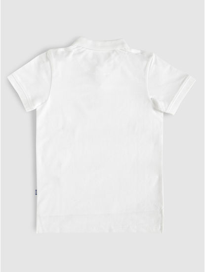 Junior White Polo Neck T-Shirt