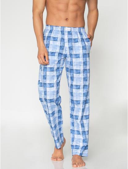 Blue Checks Print Pyjama