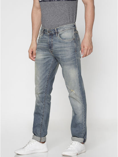 Blue Faded Tim Slim Fit Jeans