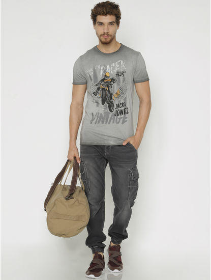 Grey Faded Erik Anti Fit Jeans