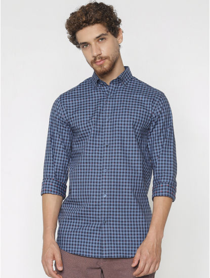Blue Checks Full Sleeves Shirt