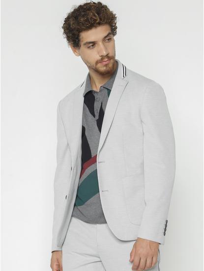 Grey Slim Fit Blazer