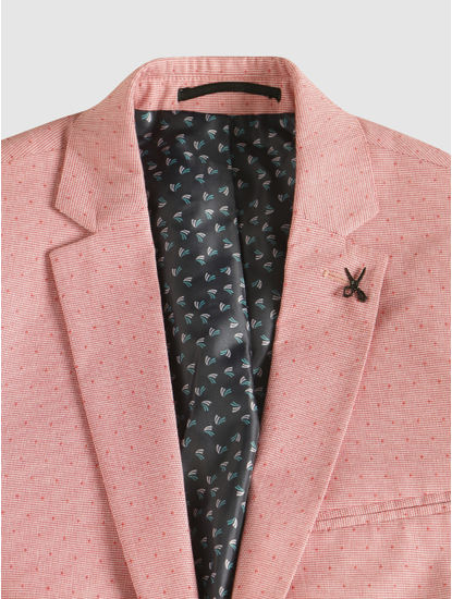 Pink Single Button Blazer
