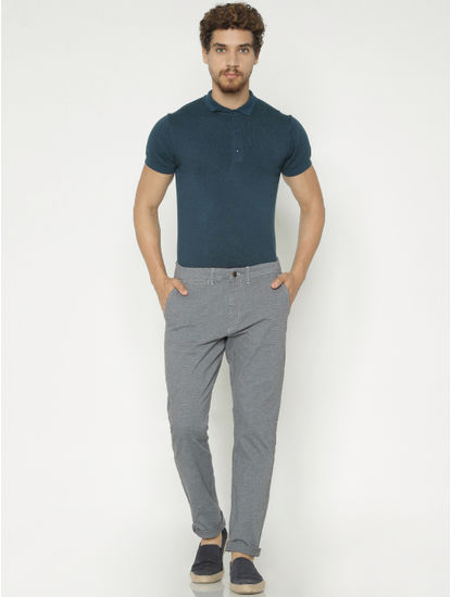 Grey Slim Fit Pants